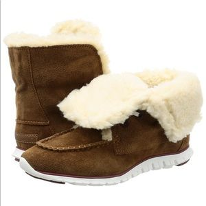 Brand New Cole Haan Zerogrand Shearling Boots